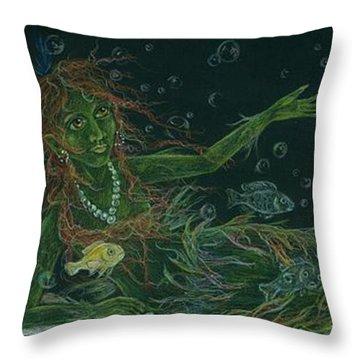 The Visitor Throw Pillow by Dawn Fairies