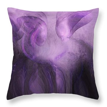 The Visitors Throw Pillow by Linda Sannuti