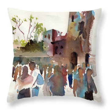 The Visitors Throw Pillow