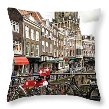 The Vismarkt In Utrecht Throw Pillow by RicardMN Photography