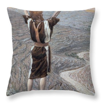 The Voice In The Desert Throw Pillow by Tissot