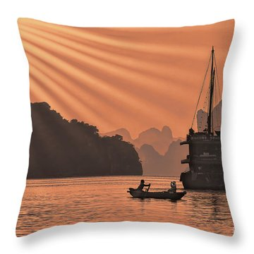 The Voyage Ha Long Bay Vietnam  Throw Pillow