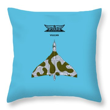 Avro Vulcan Throw Pillows
