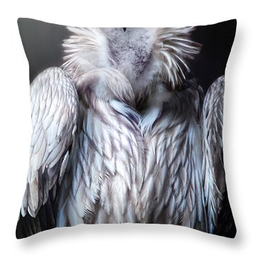 Throw Pillow featuring the photograph The Vulture by Christine Sponchia