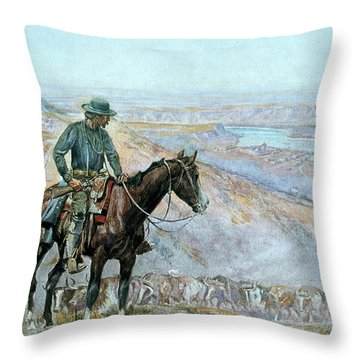 The Wagon Boss Throw Pillow