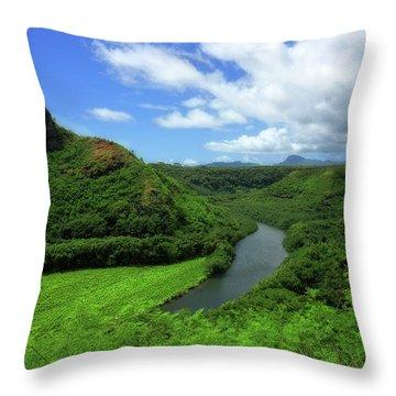 The Wailua River Throw Pillow