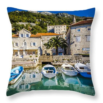 The Waiting Boats Throw Pillow