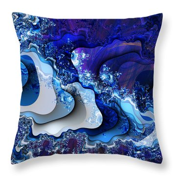 Throw Pillow featuring the digital art The Wake Of Thy Spirit's Passage by Kenneth Armand Johnson
