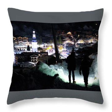 The Walk Into Town- Throw Pillow