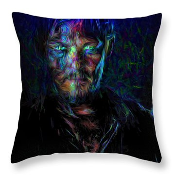 The Walking Dead Daryl Dixon Painted Throw Pillow