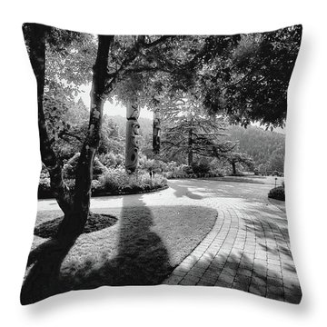 The Walkway Bw Throw Pillow