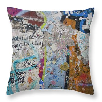 The Wall #10 Throw Pillow