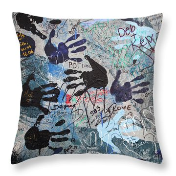 The Wall 34 Throw Pillow