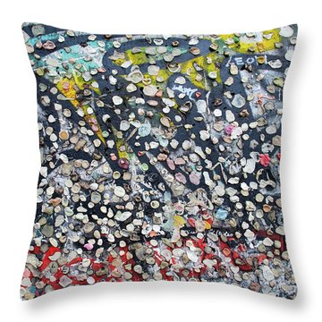 The Wall #5 Throw Pillow