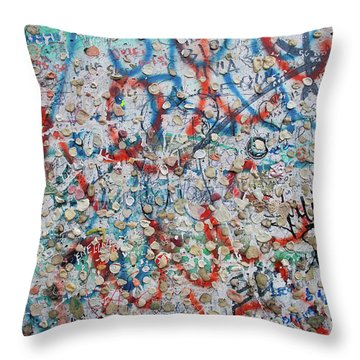 The Wall #7 Throw Pillow