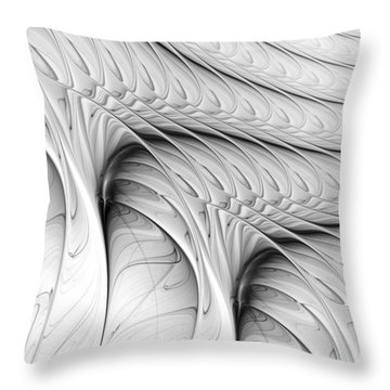 Throw Pillow featuring the digital art The Wall by Anastasiya Malakhova
