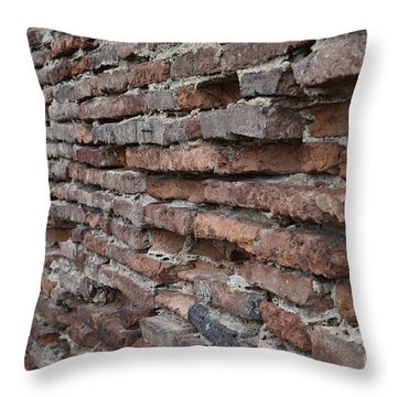 Throw Pillow featuring the photograph The Wall by Cendrine Marrouat