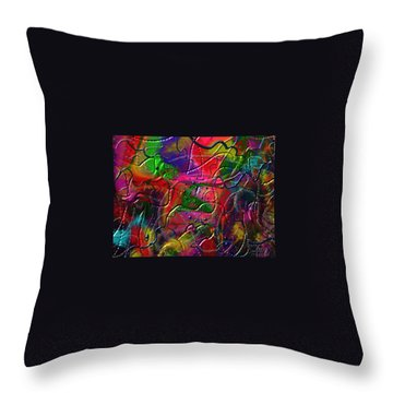 Throw Pillow featuring the painting The Wall by Kevin Caudill