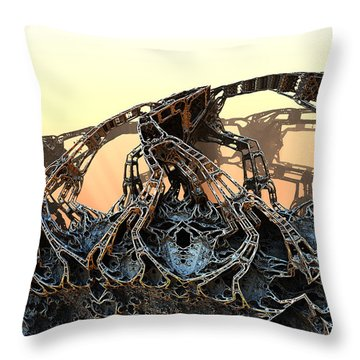 The Walls Came Tumbling Down Throw Pillow