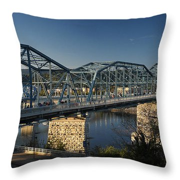 The Walnut St. Bridge Throw Pillow