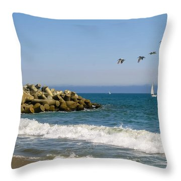 The Walton Lighthouse Throw Pillow