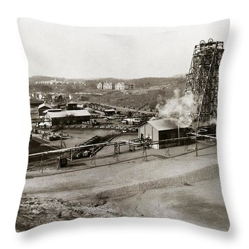 The Wanamie Colliery Lehigh And Wilkes Barre Coal Co Wanamie Pa Early 1900s Throw Pillow