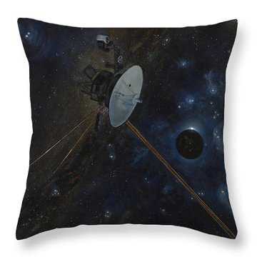 The Wanderer Throw Pillow by Simon Kregar