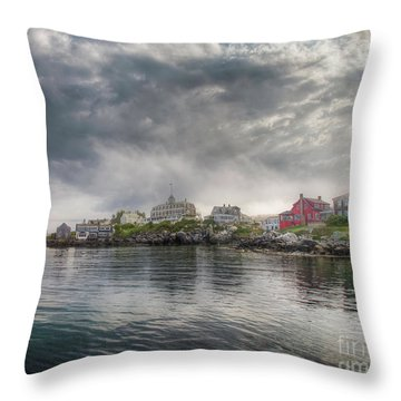 Monhegan Harbor View Throw Pillow