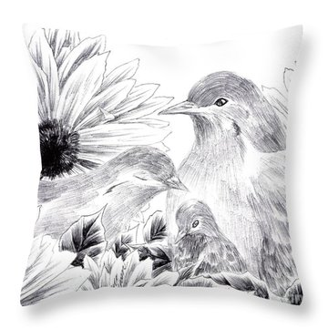 The Warmth In Our Hearts Throw Pillow