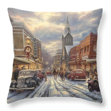 The Warmth Of Small Town Living Throw Pillow
