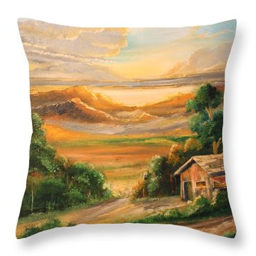 The Warmth Of Sunset Throw Pillow