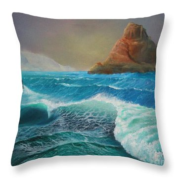 The Warrior.......coastal Ireland Throw Pillow