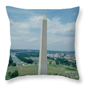The Washington Monument Throw Pillow by American School