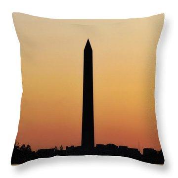 The Washington Monument Throw Pillow