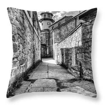 The Watch Tower Eastern State Penitentiary Throw Pillow