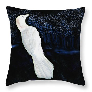 The Watcher In The Forest Throw Pillow by Aliceann Carlton