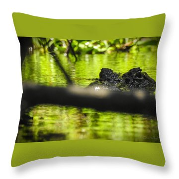 The Watcher In The Water Throw Pillow
