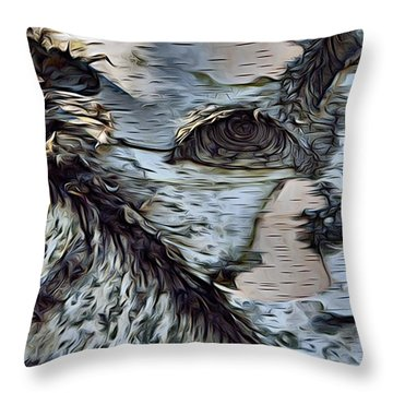 The Watcher In The Wood Throw Pillow