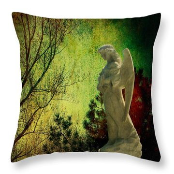 The Watcher Throw Pillow by Leah Moore