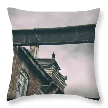 The Watcher Throw Pillow by Off The Beaten Path Photography - Andrew Alexander