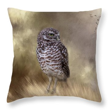 Throw Pillow featuring the photograph The Watchful Eye by Kim Hojnacki
