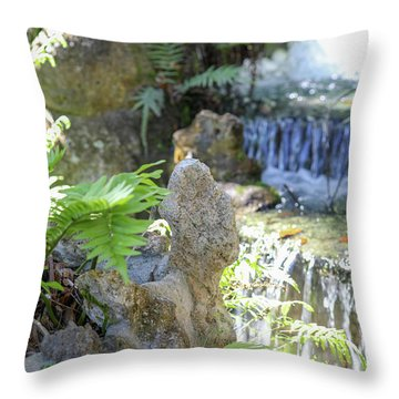 The Water And Rock Spot Throw Pillow