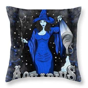 The Water Bearer Aquarius Spirit Throw Pillow