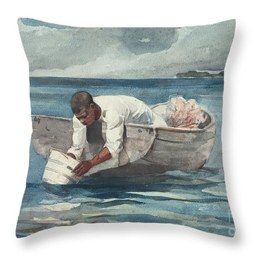 The Water Fan Throw Pillow