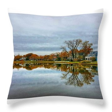 Peaceful Lake Throw Pillow by Lauren Fitzpatrick