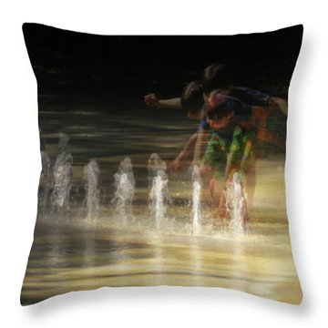 The Water Maestro  Throw Pillow