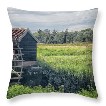 The Water Mill Throw Pillow
