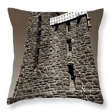 Throw Pillow featuring the photograph The Water Tower At Mount Constitution by Lorraine Devon Wilke