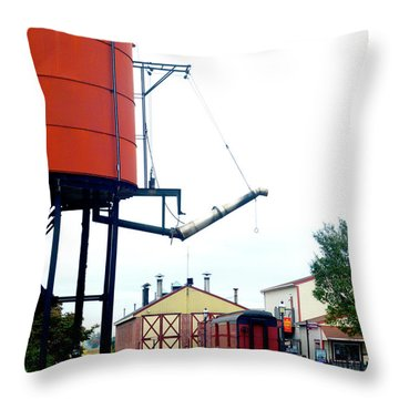 Throw Pillow featuring the photograph The Water Tower by Paul W Faust - Impressions of Light