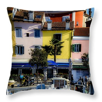 The Watercolors In Split Throw Pillow